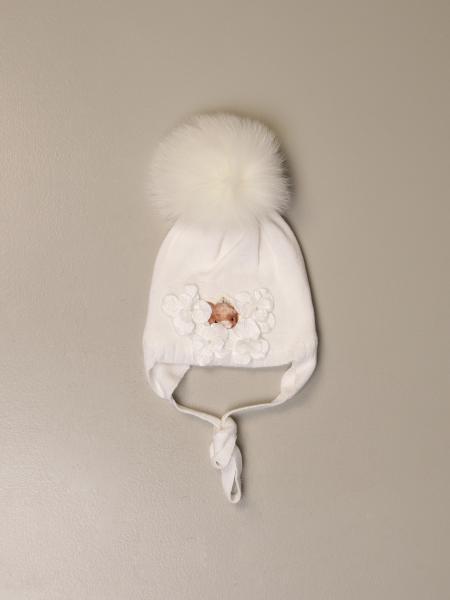 Monnalisa beanie hat with pompom
