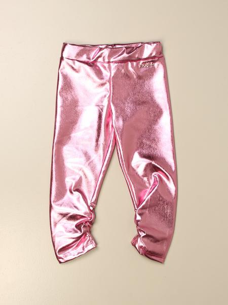 Pinko kids: Pinko laminated jogging trousers with logo