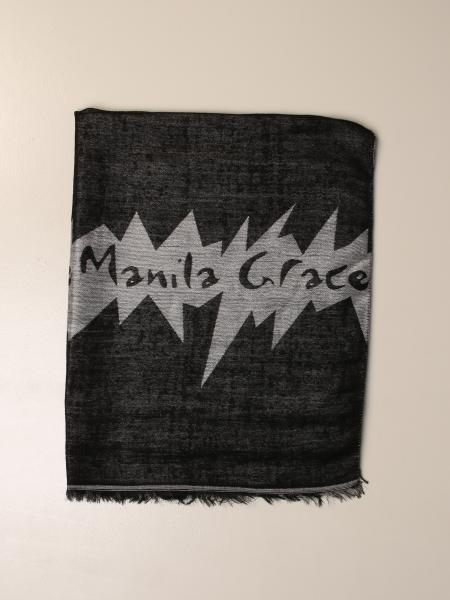 Manila Grace patterned scarf with logo