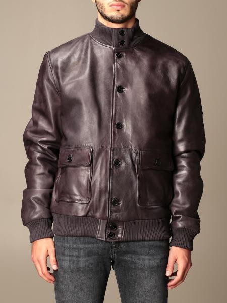Roy Rogers: Roy Rogers leather bomber jacket with buttons