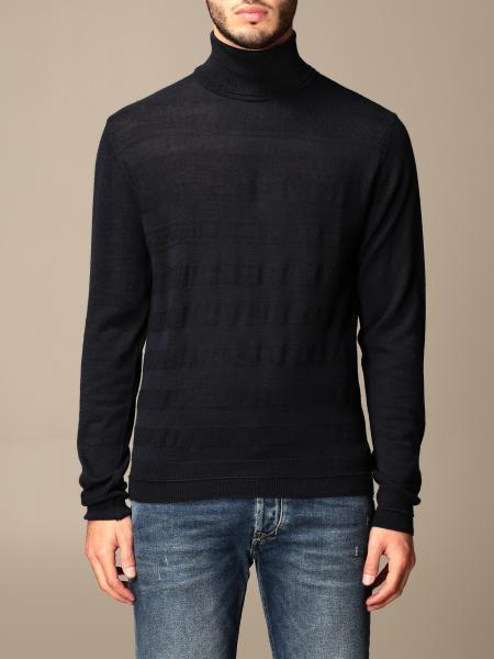Manuel Ritz: Manuel Ritz 同色系条纹高领衫