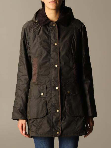 Barbour: Barbour buttoned jacket with maxi hood