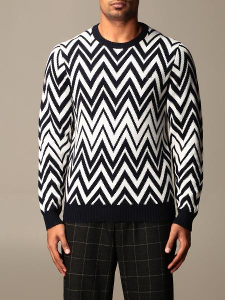 Sun 68: Sun 68 zigzag crew neck sweater