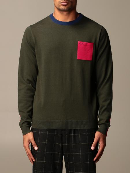 Sun 68: Sun 68 crewneck sweater with contrasting details