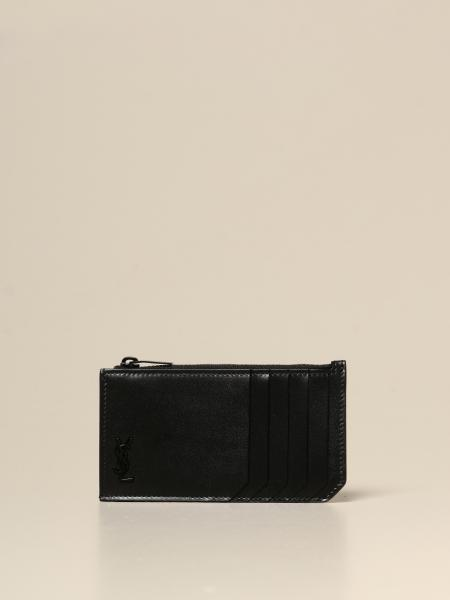 Saint Laurent credit card holder in leather