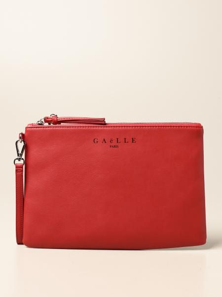 Gaëlle Paris clutch bag with synthetic leather logo