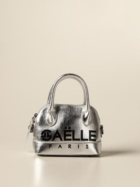 Gaëlle Paris bag with logo in laminated synthetic leather