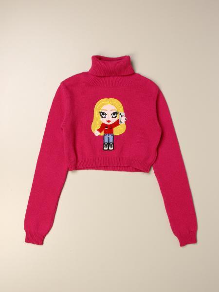 Pullover cropped Chiara Ferragni con mascotte