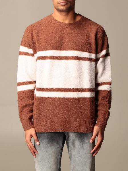 Mauro Grifoni crewneck sweater with bands