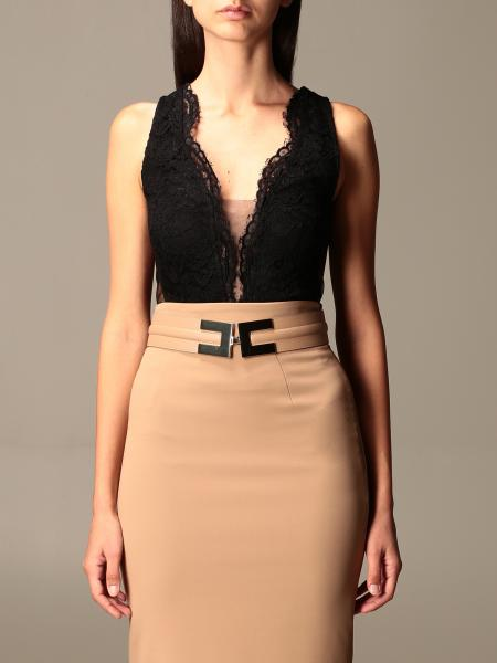 Elisabetta Franchi lace and tulle top