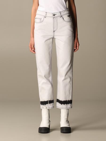 Msgm jeans in denim with print