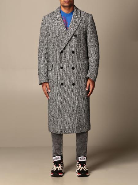 Msgm herringbone double-breasted coat