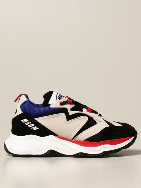 Msgm running sneakers in suede and nubuck