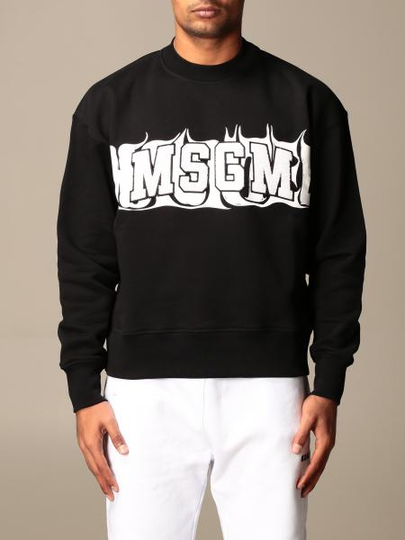Msgm crewneck sweatshirt with logo