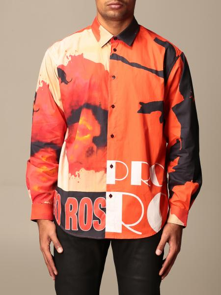 Msgm printed shirt with logo