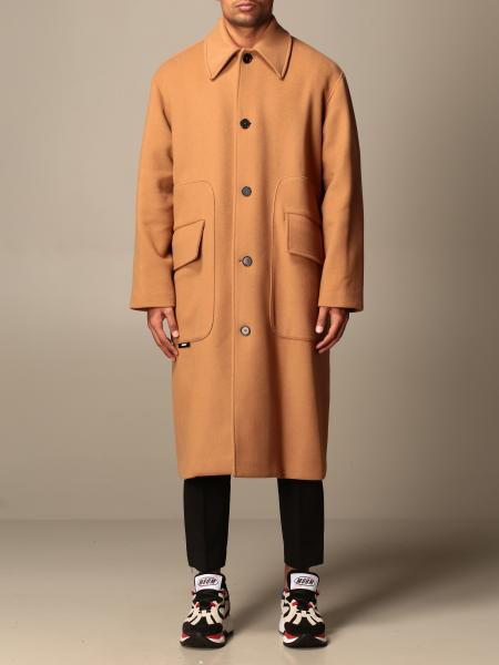 Msgm long coat with flap pockets