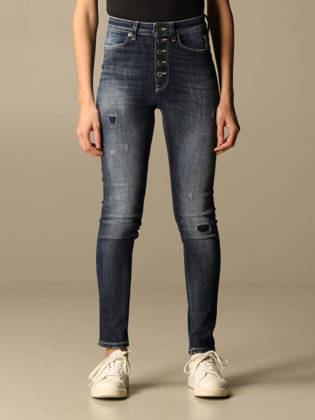 Jeans Dondup in denim used con rotture