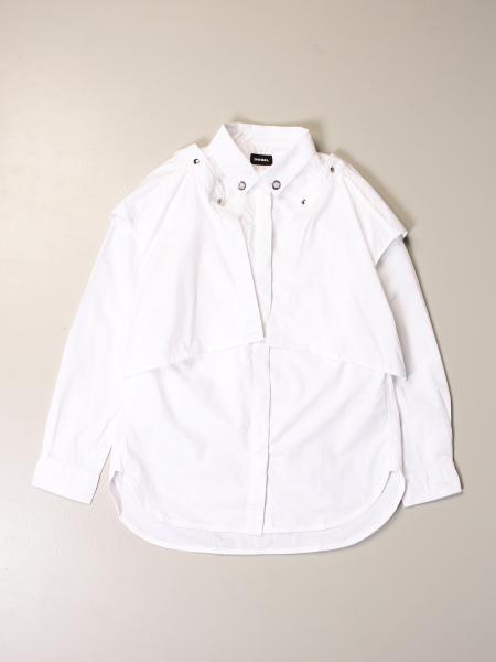 Diesel cotton shirt with side panels