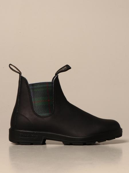 Blundstone: Blundstone ankle boot in rubberized leather with check bands