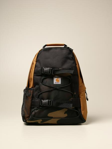 Carhartt backpack in tricolor canvas with elastic laces