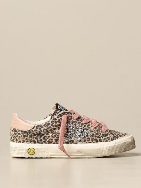 Golden Goose bambino: Sneakers May Golden Goose in camoscio animalier