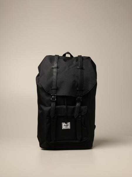 Herschel Supply Co. men: Herschel Supply Co. canvas backpack with double leather buckles
