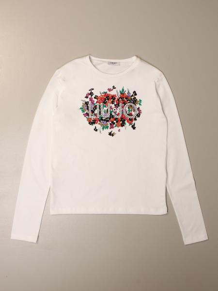 Liu Jo kids: Liu Jo T-shirt with floral logo