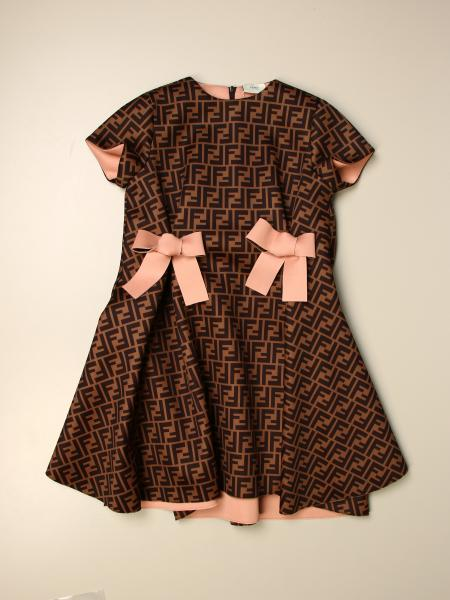 Fendi kids: Fendi dress with all-over FF monogram
