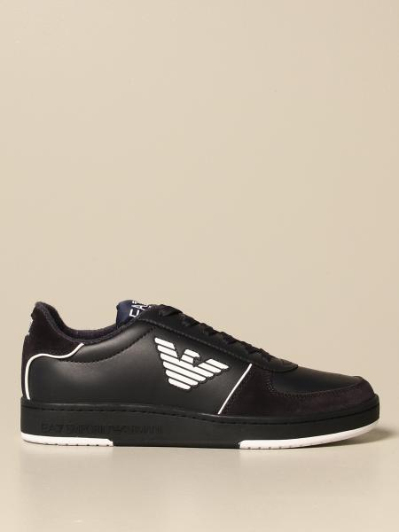 EA7 sneakers in leather and suede