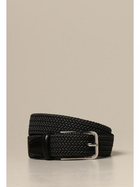 Cintura Boss intrecciata con fibbia metallica