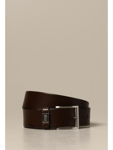 Cintura Boss in pelle con fibbia metallica