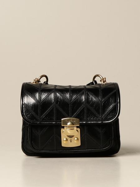 Miu Miu: Miu Miu bag in crackle leather with stitching