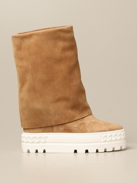 Stivale a sneakers Fusbet Casadei in camoscio