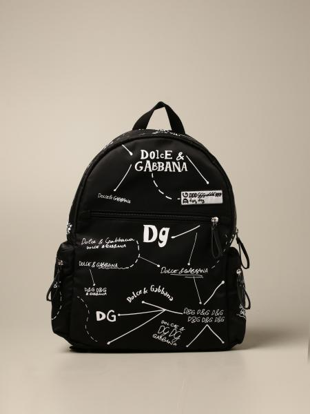 Zaino Dolce & Gabbana in nylon con stampa logo