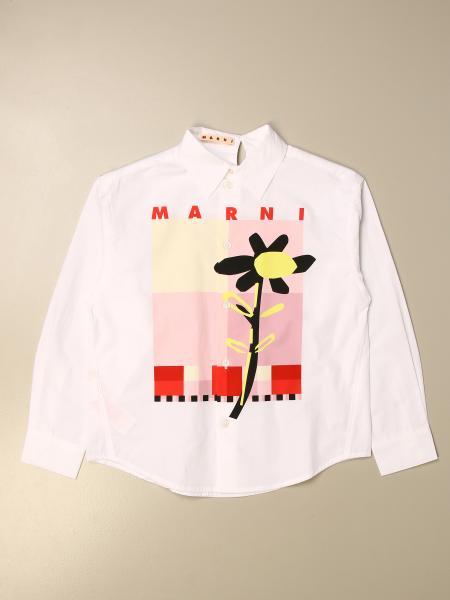 Camicia Marni con stampa logo
