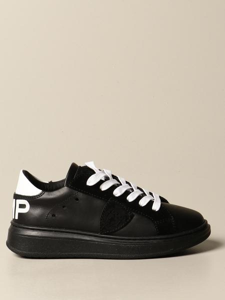 Philippe Model: Granville Philippe Model sneakers in leather and suede