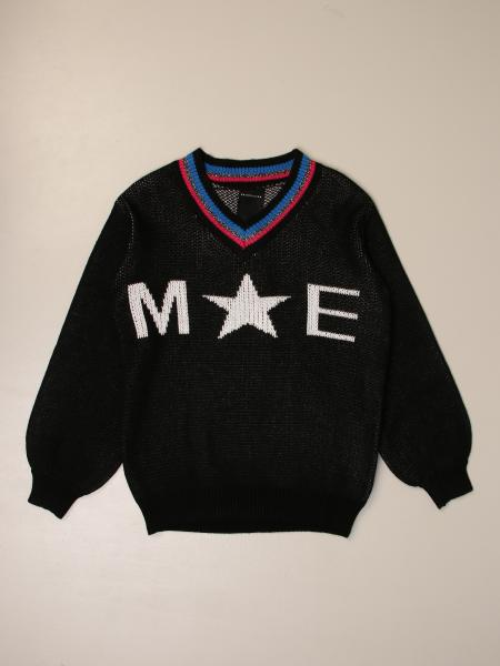 Pullover a v Marc Ellis con big logo in jacquard