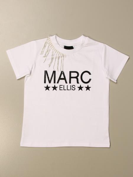 Marc Ellis: Marc Ellis T-shirt with logo and jeweled fringes