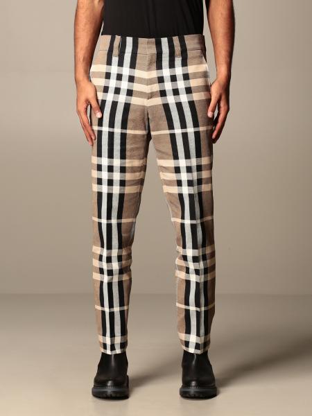 Burberry uomo: Pantalone check Burberry classic