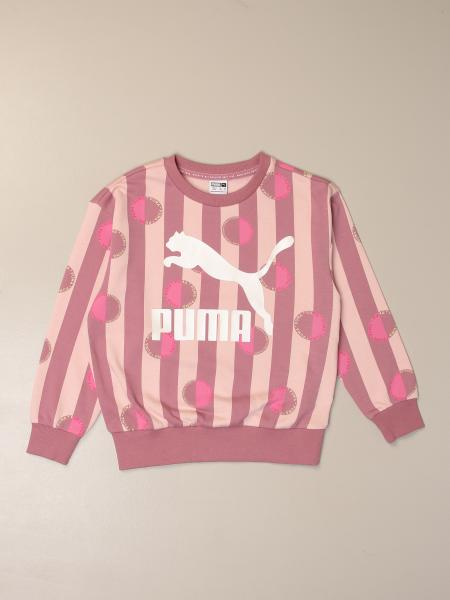 Puma crew neck sweater with bands and polka dots