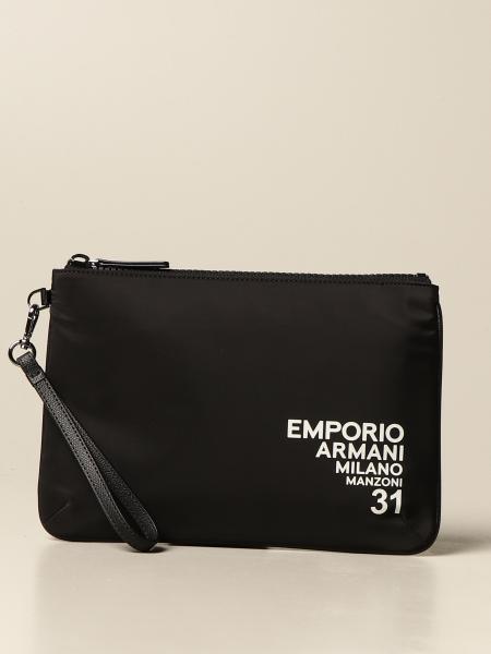 Pochette flat Emporio Armani in nylon