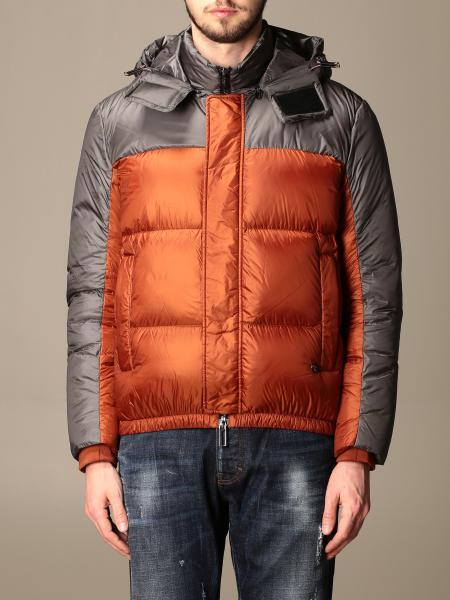 Emporio Armani down jacket in two-tone nylon