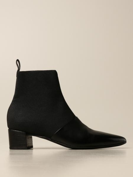Marsèll: Marsell EL Stuzzichino ankle boot in leather and stretch fabric