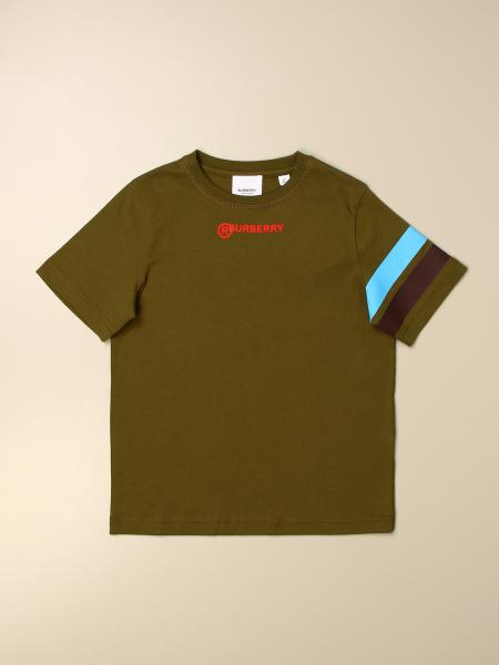 Burberry kids: Burberry T-shirt with colored bands
