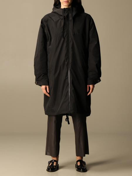 Semicouture: Semicouture long jacket with hood