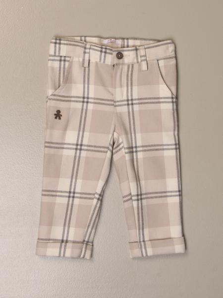 Pantalone classic Le Bebé check in cotone