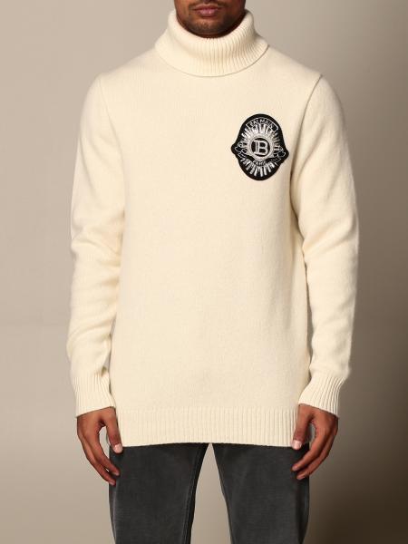Balmain: Balmain turtleneck pullover with logo