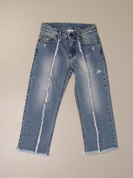 GaËlle Paris jeans in used denim with logo