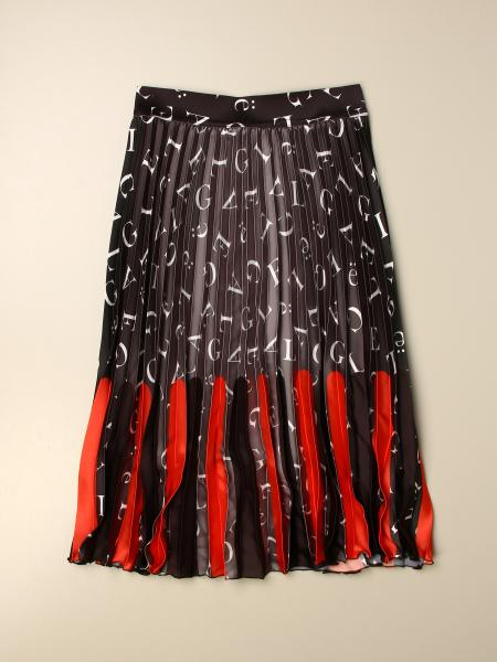 GaËlle Paris pleated skirt with all over logo