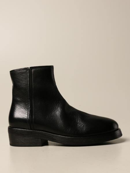 Marsèll Zip Tozzo ankle boot in leather with macro zip